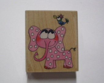 Penny Black Wood Mounted Rubber Stamp -  Elephant Song