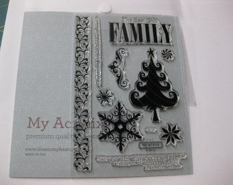 Acrylic Stamp Set - Close to My Heart #C1514 - Pear and Partridge Workshop Holiday