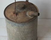 Vintage Galvanized Oil, Gas Can
