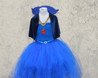 Evie Dress - Descendants Evie Dress - Evie Dress with Capelet - Evie Costume - Evie Descendants Costume - Royal Blue Costume