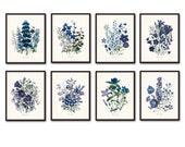 Fleurs de Jardin Print Set No. 8 - Botanical Print - Giclee Canvas Art Print - Antique Botanical Prints - Posters - Multiple Sizes Available