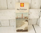 Vintage San Francisco road map street guide 1965