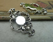 10pcs 27x43mm The Flower Silver Color Retro Pendant Charm For necklace Jewelry /Pendants C6914