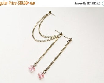 VALENTINES DAY SALE Pink Swarovski Butterfly Cartilage Earring (Pair)