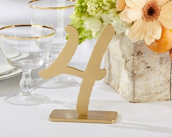 Gold Table Numbers (1-6)