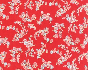 Little Ruby cotton red fabric by Bonnie and Camille for Moda fabric 55136 11