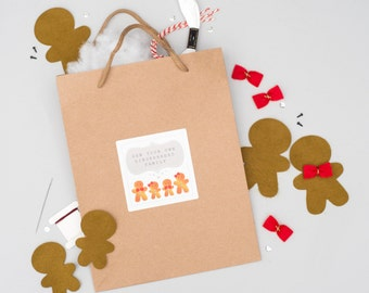 Sew Your Own Gingerbread Family Kit - Make Your Own Christmas Ornaments - Gingerbread Man Ornaments