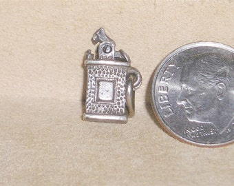 Vintage Sterling Silver Lighter Charm Or Pendant Movable Solid Full Figure 1940's Unsigned Jewelry 7095