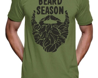 Mens Beard Season Funny T Shirt tee - American Apparel Tshirt - XS S M L Xl Xxl (Color Options)