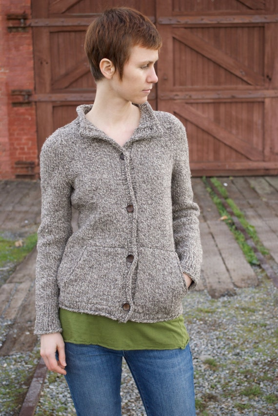 Knitting Pattern For Cardigan With Pockets : Sounds of Life Pockets Sweater Cardigan PDF Knitting Pattern