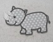 Rhino (large) Tutu & Shirt Supplies - fabric iron on Applique Patch 7424