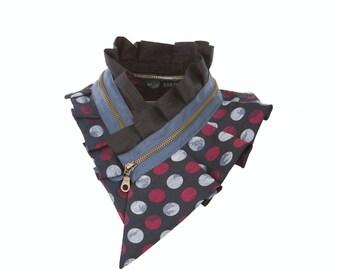 Silk collar necklace, zipper collar necklace, women's fashion accessory, fashion collar necklace #164