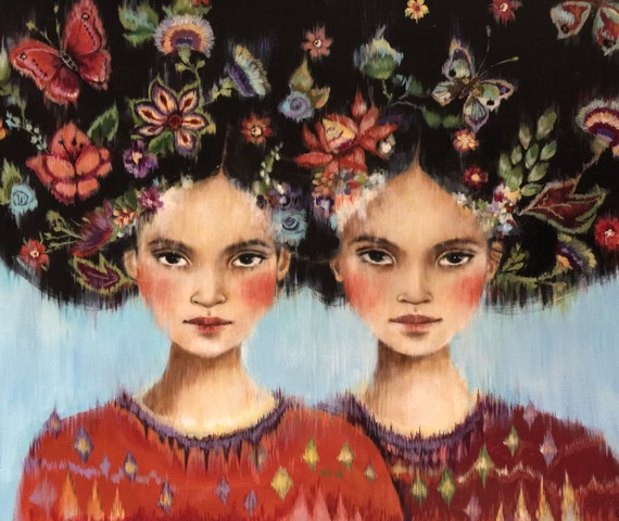 Connected, sisters flowers