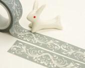 Grey Gardens - Japanese Washi Masking Tape - 20mm wide - 5.5 Yards