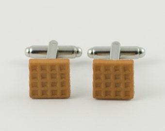 Breakfast Waffle Cufflinks