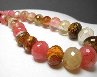 10-20mm Volcano Cherry Quartz Beads - full strand