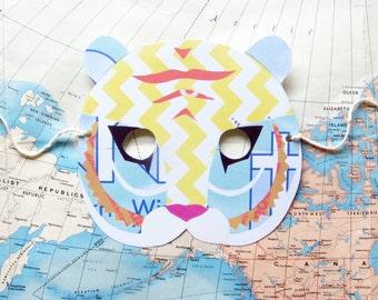 Tiger Paper Mask, Woodland Forest Wedding or Party Favor