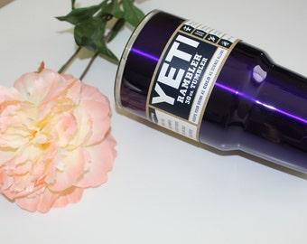 Candy purple Powder Coated YETI Rambler