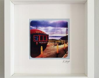 The Big Apple, Mumbles, framed vintage effect photo.
