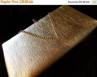 Christmas In July Sale Vintage Shiny Silver Clutch 1950's 1960's Collectible Purse Old Hollywood Glam Mad Men Mod Handbag
