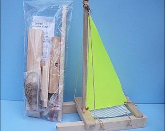 SAILBOAT KIT Yellow Toy Sailboat Wooden Boat Pool