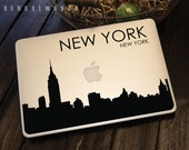 New York Skyline Macbook Decal 4 | Macbook Sticker | Laptop Decal | Laptop Sticker | Car Sticker