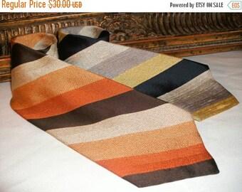 NOW 25% OFF --- Vintage 1970's Bullock & Jones Striped Neck Ties