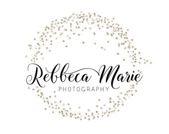 Premade Logo Calligraphy Logo Small Boutique Logo Sparkles Elegant Photography Logo and Watermark Design - Business Branding