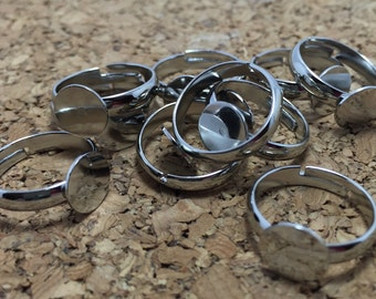 Ring Base - 10mm Glue Pad - 10pcs