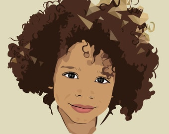 Custom Baby / Child Portrait - Vector Art