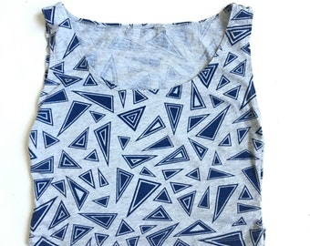 Vintage 80s 90s Geometric Mega Crop Top