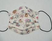 """NEW PRINT Premade Pleated Double Gauze Facial Mask for Teens/Adults """"Line Friends- Ivory"""" & Tio Tio Antibacterial Gauze"""" Size S"""