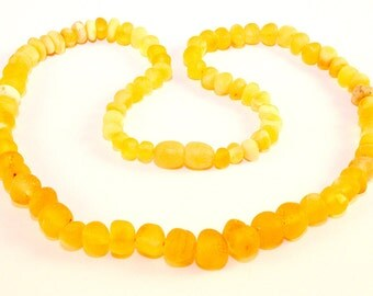 Baltic Amber Necklace unpolished raw Baltic Amber