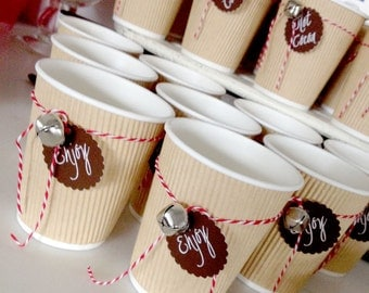 Hot Cocoa Bar Cup Christmas Winter Mini Tags PRINTABLE INSTANT DOWNLOAD