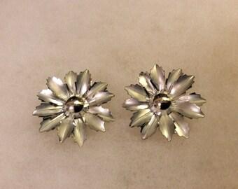Vintage Silvertone Coro Clip Earrings