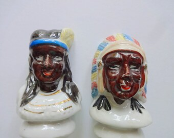 Vintage Native American Salt and Pepper Shakers 1940s