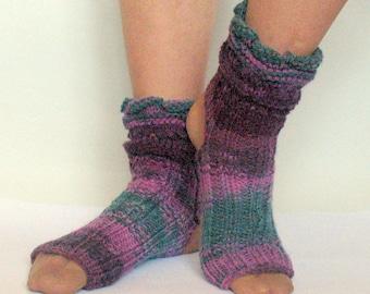 Yoga Socks Dance Pilates Ballet Green Purple Pink Leg Warmers ankle warmers dancer