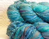 Sari Silk Ribbon in Turquoise