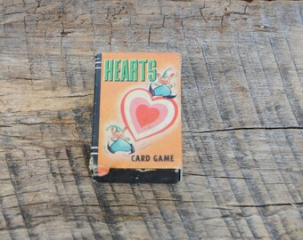 Vintage Hearts Playing Card Game Childs Miniature Deck Whitman Publishing Peter Pan Card Game
