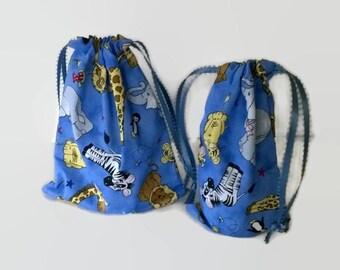 Zoo Animals Children's Gift Bags, Birthday, Elephant, Zebra, Tiger, Giraffe