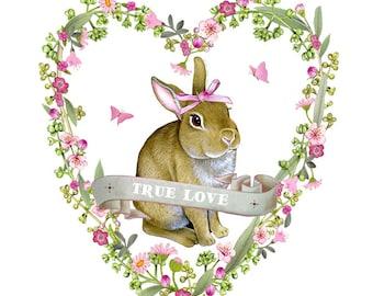 Rabbit art print - Animal art - Nursery art - Nursery decor - Illustration by Fiammetta Dogi
