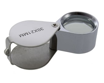 Jewelers Loupe, SALE  Magnifying glass, eyeglass, 30x magnifier, 20% off w purchase jewellery identificaton