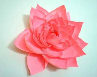 "20"" Crepe Paper Gardenia"