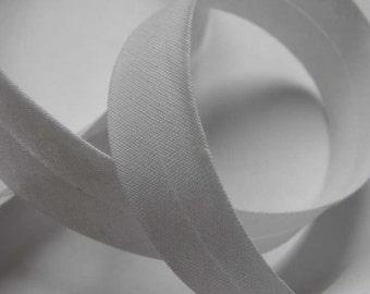 3m Biais coton replié – blanc (col 501)