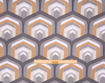 Two 26 x 26 Custom Designer Decorative Pillow Covers Euro - Robert Allen Geometric Amber/Grey