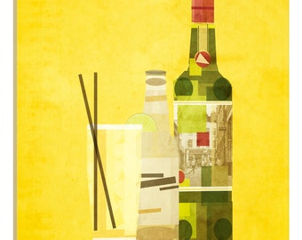 iCanvas Whiskey & Ginger Gallery Wrapped Canvas Art Print by 5by5collective