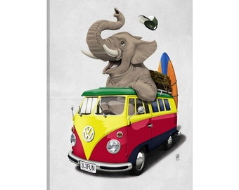 iCanvas Pack-the-trunk II Gallery Wrapped Canvas Art Print by Rob Snow