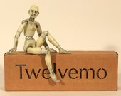 1:12th scale doll, fully articulated, posable figure, Twelvemo