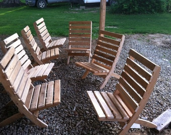 Cypress wood rendezvous chairs, portable 1 each