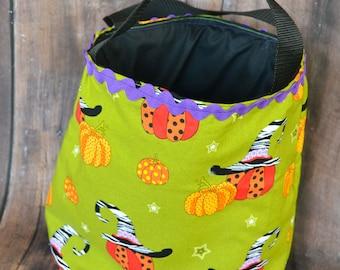 Halloween Pumpkins Trick or Treat Bag, ready to ship, trick or treat, treat bag, bats, holidays